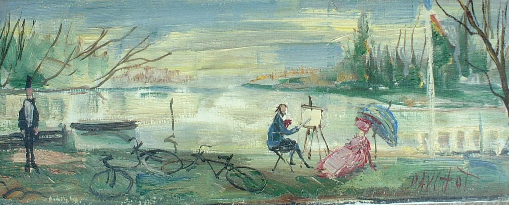 Artist: Gabriel Dauchot Title: The Artist Muse Size: 7.5in x 18.5in