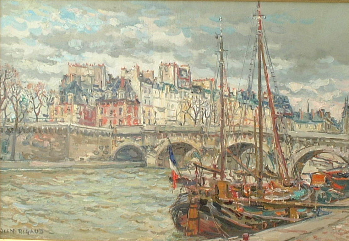 Artist: Jean Rigaud Title: Pont Nufe Size: 21in x 29in