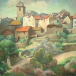 Artist: Eugenie Mcevoy Title: Saint Romain Porvence Size: 28in x 36in