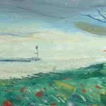 Artist: Gabriel Dauchot Title: Spring at Shore Size: 7.5in x 18.5in