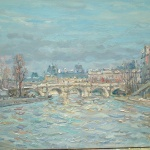Artist: Jean Rigaud Title: Pont Nufe Size: 15in x 21in