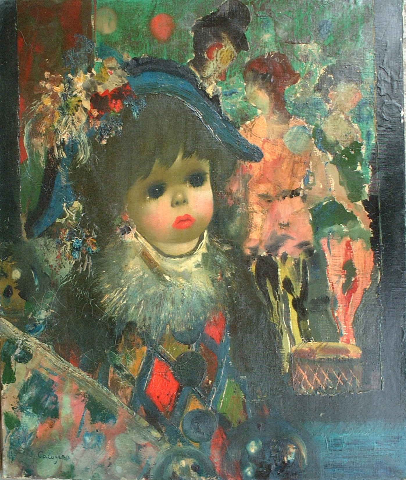Artist: J. Calogero Title: The Little Clown Size: 21.5in x 18in Framed: No