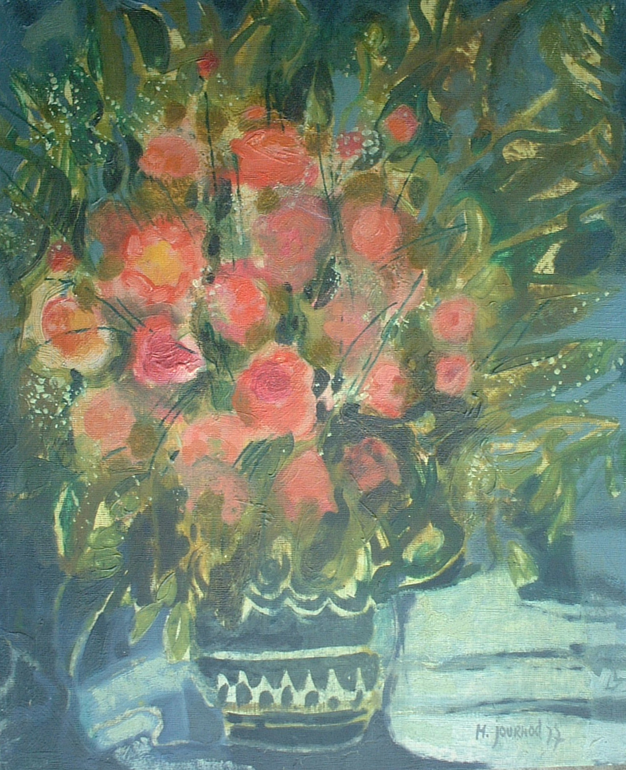 Artist: M Journod Title: Spring Bouquet Size: 18in x 15in Framed: No