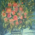 Artist: M Journod Title: Spring Bouquet Size: 18in x 15in Framed: No