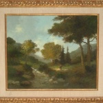 Artist: Louwenhoek Van Veger Title: A Walk in the Woods Size: 20in x 24in Framed: Yes