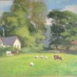 Artist: W. Lister Title: Countryside Size: 14in x 18in Framed: No
