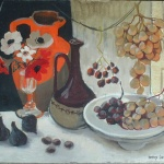 Artist: Danny Lartigue Title: Raisins et Anemones Size: 18in x 24in Framed: No
